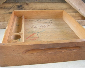 Solid oak desk drawer