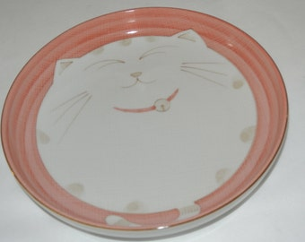 Children's Deep Cat Plate, Design by Maneki Neko, Kafur Japan