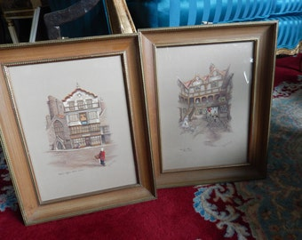 PAIR OF CLYDE Cole Print Wall Hangings