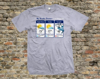 Sharknado Weather Forecast T Shirt 100% cotton - 1102