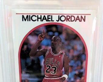 Michael Jordan Beckett Graded 1989 Hoops