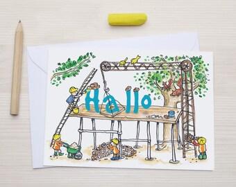 Hallo - Greeting Card - Dutch Hello