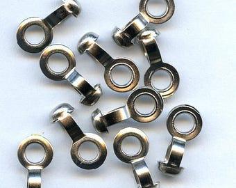 5 Silver Ball Chain Connectors
