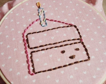 PDF Embroidery Pattern - Happy Birthday