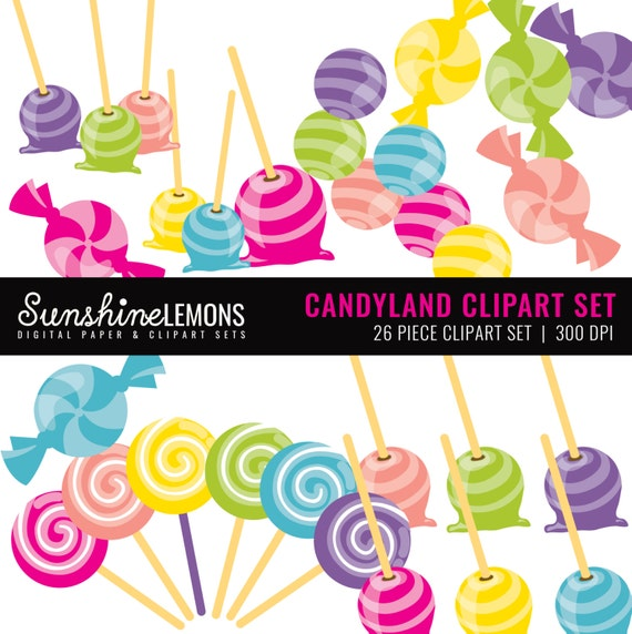 candy land clipart candy clipart set sweet clipart set set of rh etsystudio com