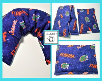 University of Florida Gators UF, Heating Pad Microwave, UF Gator Football, Tail Gate, Relaxation Gift Spa Set, Orange Blue, Sunny Heat Packs