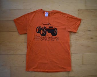 Vintage Orange Monster Truck Tee Tshirt Adult size medium