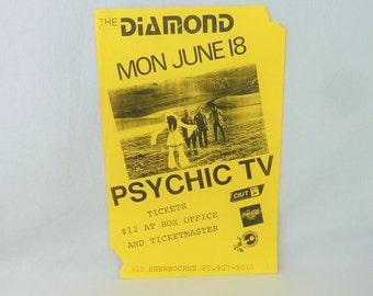 PSYCHIC TV original flyer - Vintage 1990  Flyer - band gig concert flyer Toronto