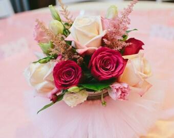 Mason Jar Tutu, Candy Jar Tutu, Tutus for Vases, Ballerina Party, Princess Party Decoration