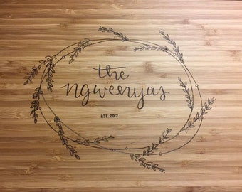 Personalized Wood Burned Cutting Board