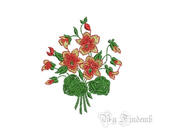 Flower Embroidery Designs 5 size Instant Download