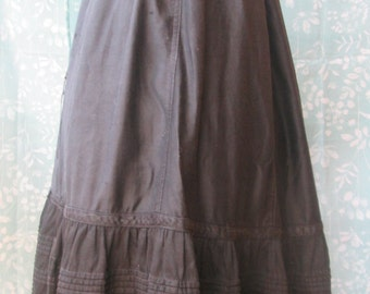 1800s Victorian Long Drawstring Petticoat Skirt One SIZE fits all -XS to XL