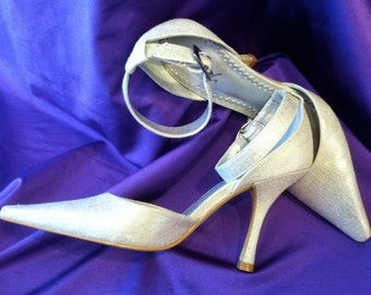BCBG's Silver 70's Style 6B Shoes