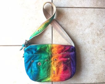Tie Dye Levi Purse | upcycled