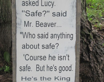 """Kids Wall Art Wooden Sign Chronicles of Narnia  C.S. Lewis Word Art 12""""x24"""" Painted Rustic"""