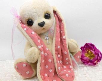 Teddy Daisy Bunny Little miracle plush Bunny plush toy birthday present unusual gift soft toy