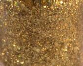 gold holographic glitter nail polish 24 kt Gold glitter topper 5 free handmade nail polish indie nail polish vegan cruelty free