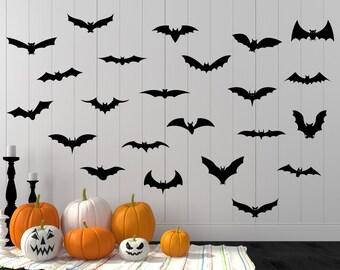Halloween Decal, Halloween, Halloween Wall Decal, Bat Decal, Bat Wall Decal, Bats, Halloween Bat, Halloween Party, Bat Flock, Home Decor