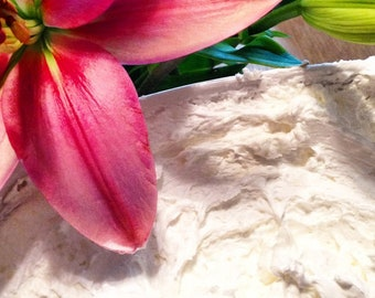 Just Plain Whipped Shea Butter - Handcrafted (No fragrance or Colors Added)