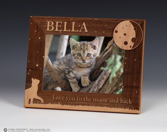 Cat Name Picture Frame, Pet Picture Frame, Personalized, Pet Name Frame, Cat Picture Frame, Cat Gift, Cat Frame, Cat, Memorial