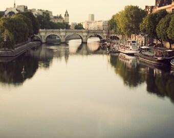 Pont Neuf, Paris Photography, Bridge, Paris Art Print, Original Travel Photography, Seine River, Paris Decor, 8x8 - Once Upon a River