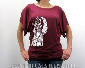 Belly Dancer Shirt Womens short sleeve flowy tribal goddess t shirt