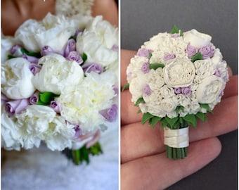 SCENTED - Bouquet Replica, Wedding Bouquet Replica, 1st Anniversary Gift, Wife Anniversary, Wife Birthday Gift, Wedding Cake Replica