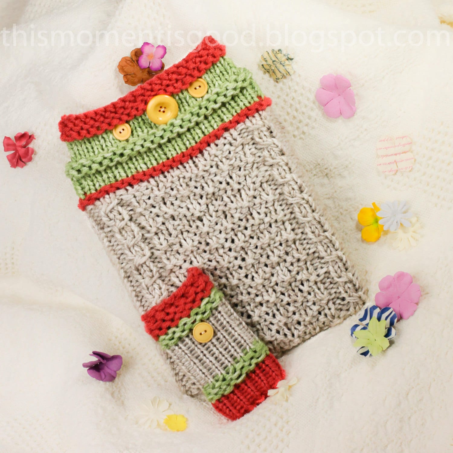 Loom Knit iPad Tablet Cover PATTERN. Plus iPhone Sock Pattern.