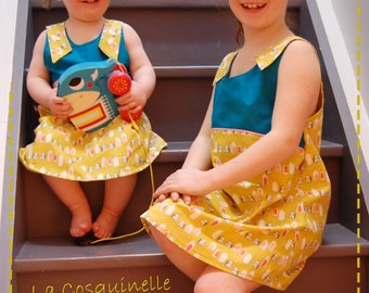 Quilts, mini homes mustard yellow, Teal top dress