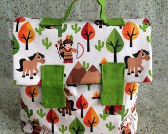 Bag child Indians - Children fabric satchel