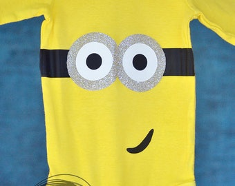 Minion Inspired // Baby Apparel, Toddler Shirts, Trendy Baby Clothes, Cute Baby Clothes, Baby and Toddler Clothes