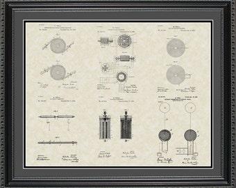Nikola Tesla Patent Collection Print Gift PTESL2024