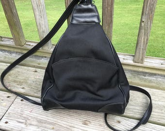 90s Small Black Backpack Purse