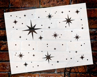 Twinkle Stars Stencil by StudioR12 - Art for kids - Nursery decor, Celestial Backgrounds, Cards, Ceiling, Cake - SELECT SIZE - STCL578