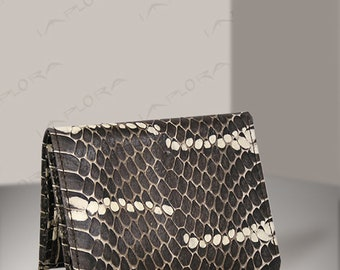 Real Mangrove Snakeskin Tri-fold Wallet Stripes - by Implora (#0424)
