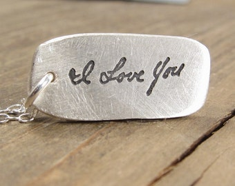 Gift for Her - Jewelry - Personalized - Handwritten Necklace - Memorial Jewelry - Handwriting - Personalized Jewelry - Handwriting Jewelry