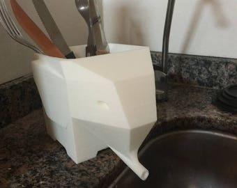 Cutlery Drain |  Utensil Crock | Utensil Holder | Kitchen Utensil | Kitchen Utensils | Cutlery Drainer | Kitchen Drainer | Utensil Caddy |