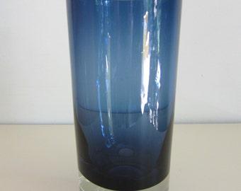 Kaj Franck Sommerso Glass Vase Nuutajarvi Nottsjo Finland