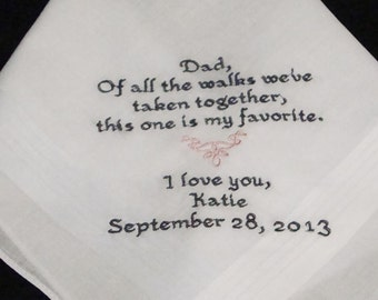 Personalized Father of the Bride, This Is My Favorite Walk Wedding Day Keepsake - Thread Born Memories