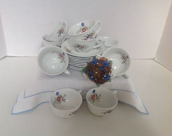 Vintage Arabia Finnish Cup and Saucer Set of 9