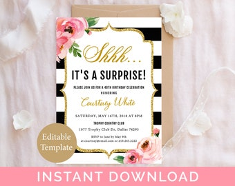 template birthday party invitation