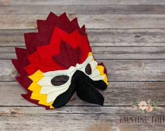 Scarlet the Red Macaw Mask for Costume or Pretend Play