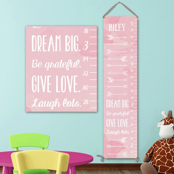 Arrow Growth Chart, Personalized Growth Chart, Arrow Nursery Decor, Arrow Nursery Art, Arrow Nursery, Pink Growth Chart, Grow Chart GC0002