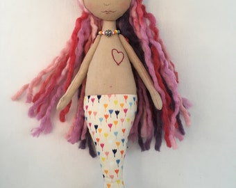 RESERVED FOR CW0102  Handmade Mermaid Cloth doll
