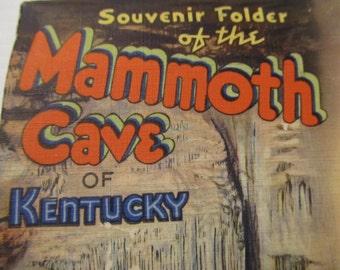 Souvenir Folder, Mammoth Cave of Kentucky, Postcard pack, FREE SHIPPING