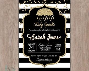 baby sprinkle invitation girl, baby sprinkle invitation boy, baby sprinkle invites, sprinkle shower invitation, sprinkle baby shower, black