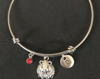 Personalized Guinea Pig Bangle Personalized Guinea Pig Bracelet