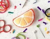 Sewing kit, orange, fruit craft, felt craft kit, DIY felt craft kit, felt sewing kit, craft kit, kids crafts, felt craft, sewing projects