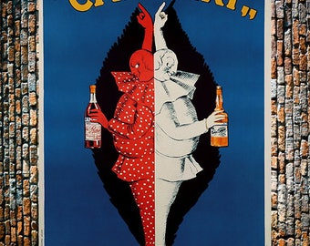 Campari Capiello Vintage Liquor Ad, Liquor Ad, Vintage Alcohol Ad, Campari Ad,  Vintage Art, Giclee Art Print, fine Art Reproduction