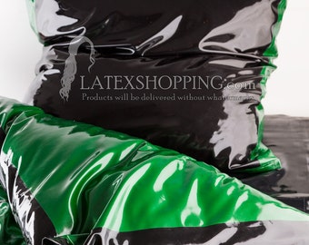 Latex Bettwäsche - Latex Kopfkissen und Bettdecke Bezug - Handfertigung